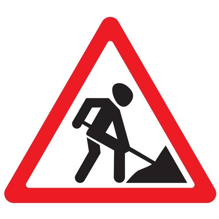 Дорожный знак 1.25 Дорожные работы (Временный A=900)