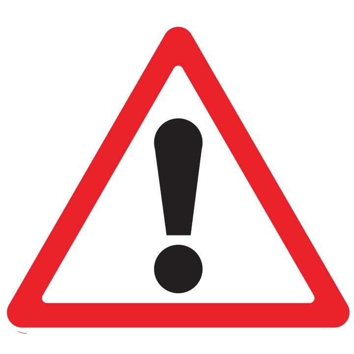 Дорожный знак 1.33 Прочие опасности (Временный A=900)