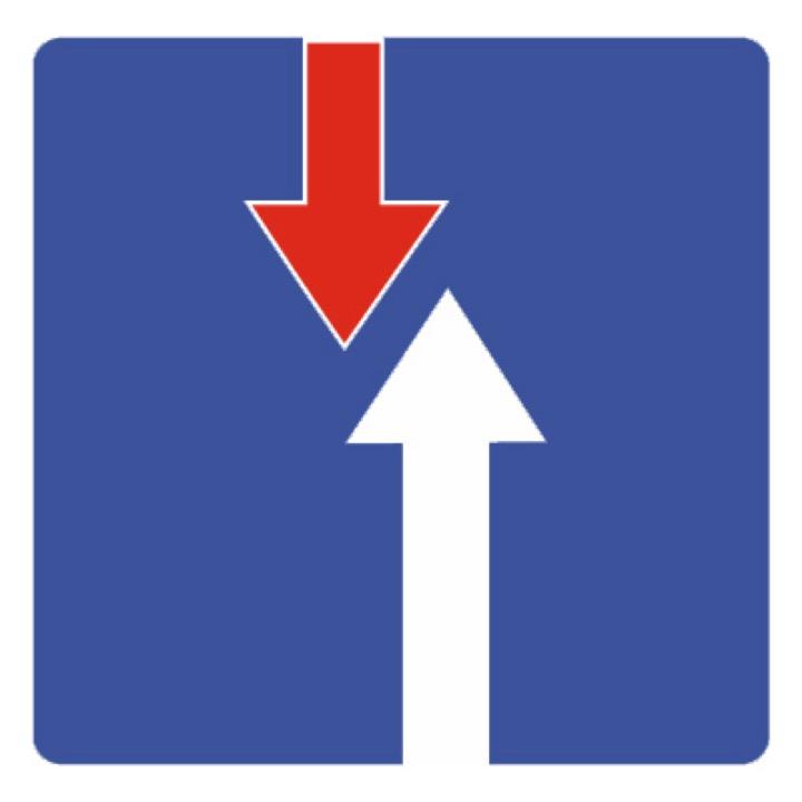 Дорожный знак 2.7 Преимущество перед встречным движением (B=700)