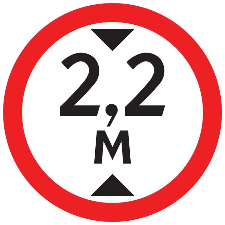 Дорожный знак 3.13 Ограничение высоты (Временный D=700)