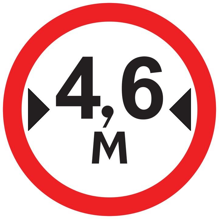 Дорожный знак 3.14 Ограничение ширины (Временный D=700)