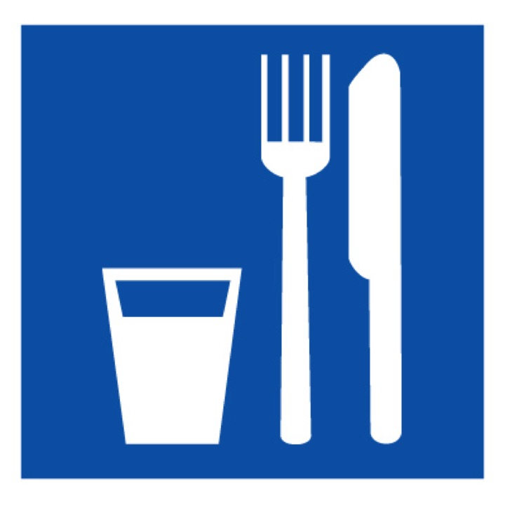 Знак D01 Пункт приема пищи (Пленка 300 х 300)
