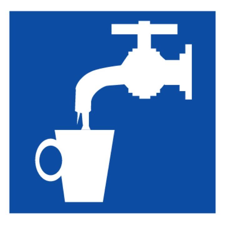 Знак D02 Питьевая вода (Пластик 400 X 400)