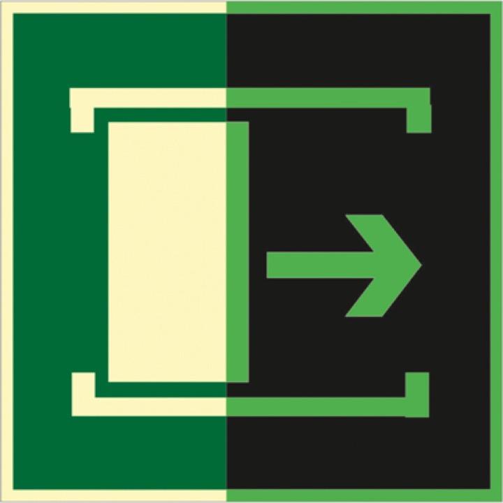 Знак ФЭС E20 Для открывания сдвинуть (Пленка 150 х 150)