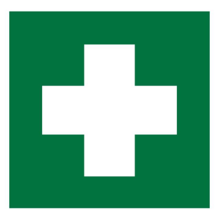 Знак EC01 Аптечка первой медицинской помощи •ГОСТ 12.4.026-2015• (Пленка 200 х 200)