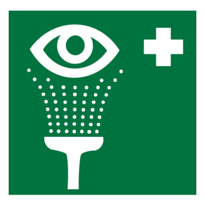 Знак EC04 Пункт обработки глаз •ГОСТ 12.4.026-2015• (Пленка 200 х 200)