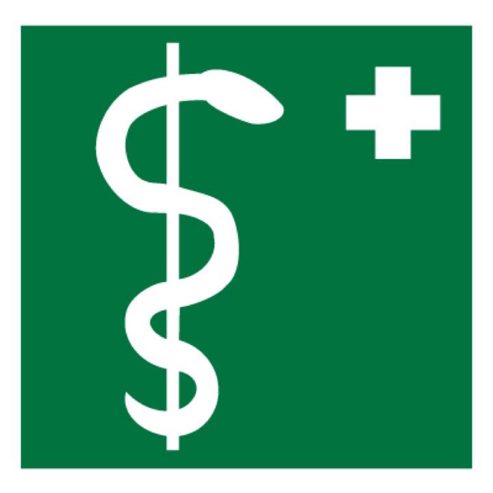 Знак EC05 Медицинский кабинет •ГОСТ 12.4.026-2015• (Пленка 200 х 200)
