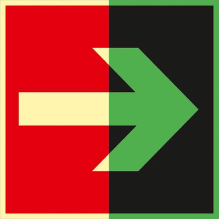 Знак F01-01 Направляющая стрелка (Фотолюминесцентный Пленка 200 x 200) Т1