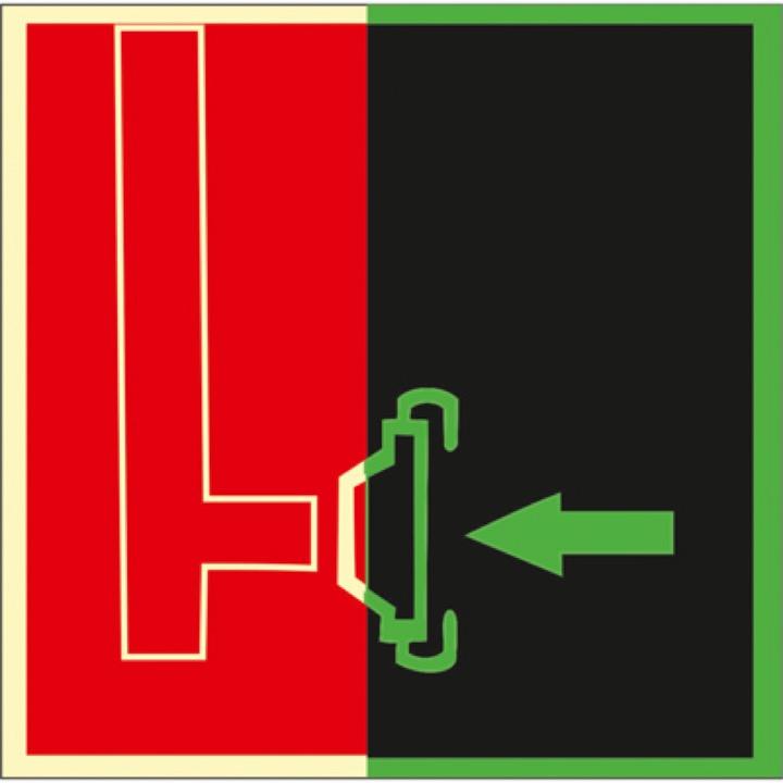 Знак ФЭС F08 Пожарный  сухотрубный стояк (Пленка 150 х 150)