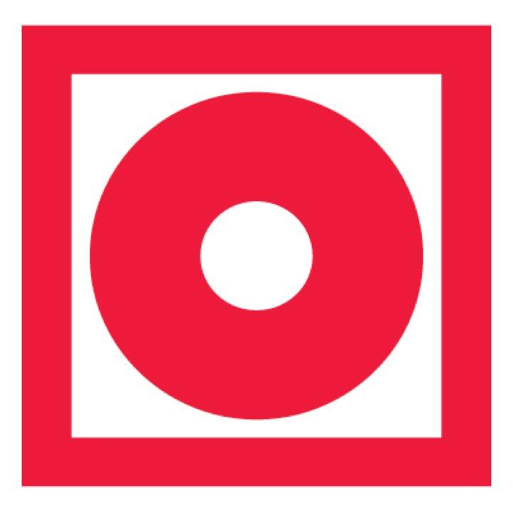 Знак F10 Кнопка включения установок (систем) пожарной автоматики •ГОСТ 12.4.026-2015• (Пленка 200 х 200)