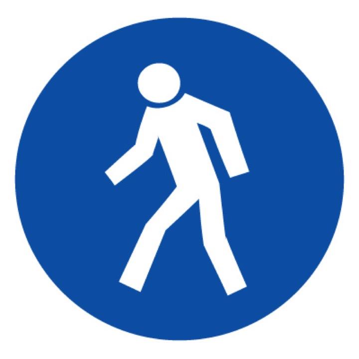 Знак M10 Проход здесь (Пленка 250 х 250)