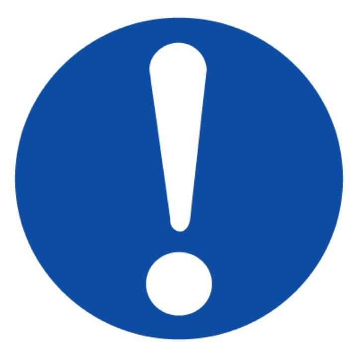 Знак M11 Общий предписывающий знак •ГОСТ 12.4.026-2015• (Пленка 200 х 200)