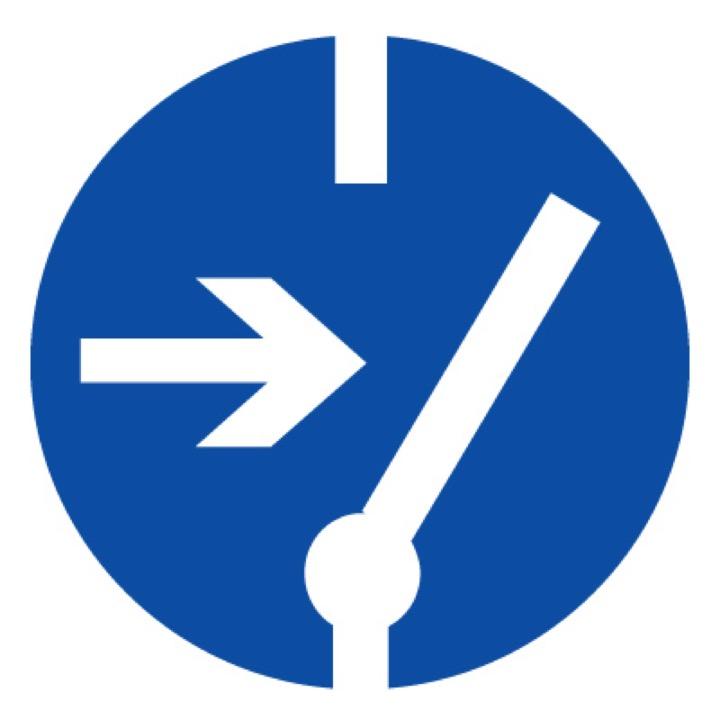 Знак M14 Отключить перед работой •ГОСТ 12.4.026-2015• (Пленка 200 х 200)