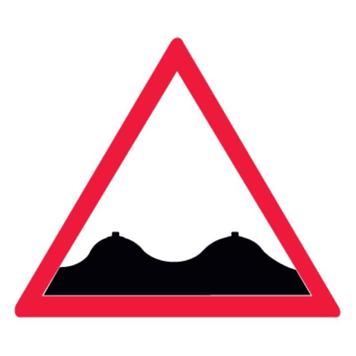 Знак T773 Не ровная дорога (Пленка 100 х 100)