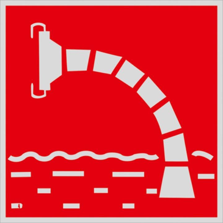 Знак F07 Пожарный водоисточник •ГОСТ 12.4.026-2015• (Световозвращающий Металл 300 x 300)