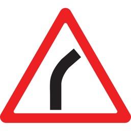 Дорожный знак 1.11.1 Опасный поворот (A=900)
