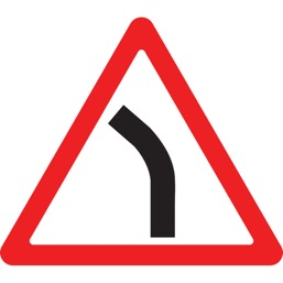 Дорожный знак 1.11.2 Опасный поворот (A=900)