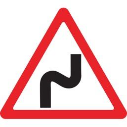 Дорожный знак 1.12.1 Опасные повороты (A=900)