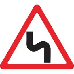 Дорожный знак 1.12.2 Опасные повороты (A=900)