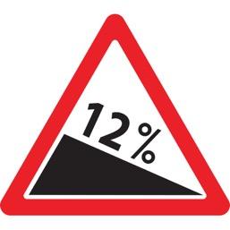 Дорожный знак 1.13 Крутой спуск (A=900)