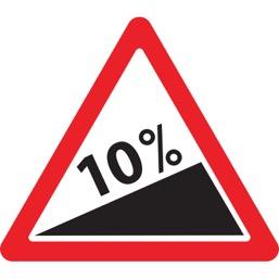 Дорожный знак 1.14 Крутой подъем (A=900)