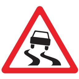 Дорожный знак 1.15 Скользкая дорога (A=900)