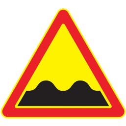 Дорожный знак 1.16 Неровная дорога (Временный A=900)