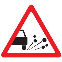Дорожный знак 1.18 Выброс гравия (A=900)