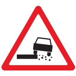 Дорожный знак 1.19 Опасная обочина (A=900)