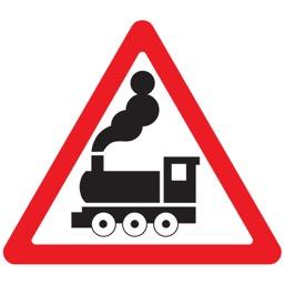 Дорожный знак 1.2 Железнодорожный переезд без шлагбаума (A=900)