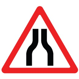 Дорожный знак 1.20.1 Сужение дороги (A=900)