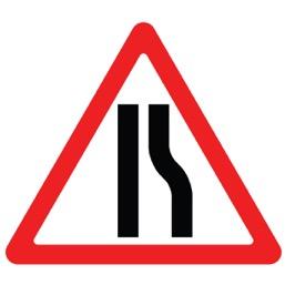 Дорожный знак 1.20.2 Сужение дороги (A=900)