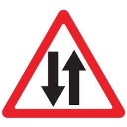 Дорожный знак 1.21 Двухстороннее движение (A=900)