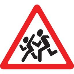 Дорожный знак 1.23 Дети (A=900)