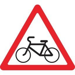 Дорожный знак 1.24 Пересечение с велосипедной дорожкой (A=900)