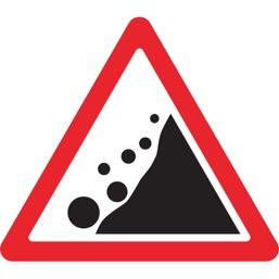Дорожный знак 1.28 Падение камней (A=900)