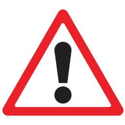 Дорожный знак 1.33 Прочие опасности (A=900)