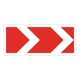 Дорожный знак 1.34.1 Направления поворота (615 x 500)