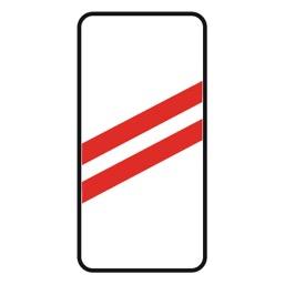 Дорожный знак 1.4.2 Приближение к железнодорожному переезду (350 x 700)