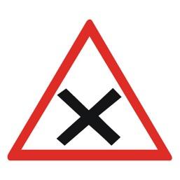 Дорожный знак 1.6 Пересечение равнозначных дорог (A=900)