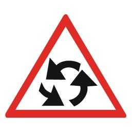 Дорожный знак 1.7 Пересечение с круговым движением (A=900)