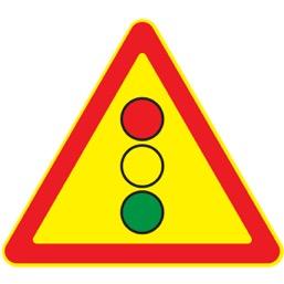 Дорожный знак 1.8 Светофорное регулирование (Временный A=900)