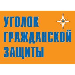 """Плакат """"Уголок гражданской защиты"""" - к-т из 9 л."""