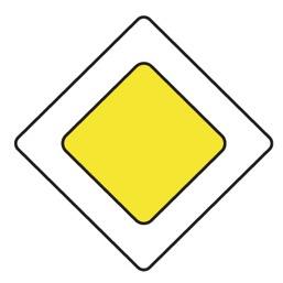 Дорожный знак 2.1 Главная дорога (B=700)