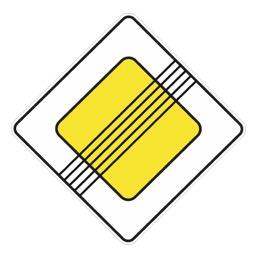 Дорожный знак 2.2 Конец главной дороги (B=700)