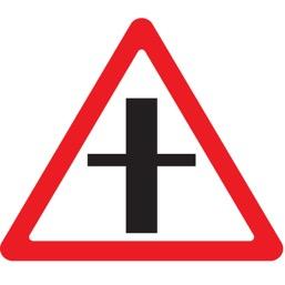 Дорожный знак 2.3.1 Пересечение с второстепенной дорогой (A=900)