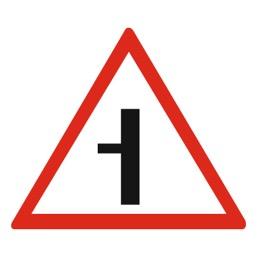 Дорожный знак 2.3.3 Примыкание второстепенной дороги (A=900)