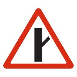 Дорожный знак 2.3.4 Примыкание второстепенной дороги (A=900)