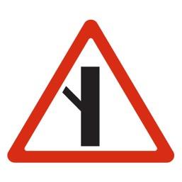 Дорожный знак 2.3.5 Примыкание второстепенной дороги (A=900)