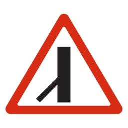 Дорожный знак 2.3.7 Примыкание второстепенной дороги (A=900)